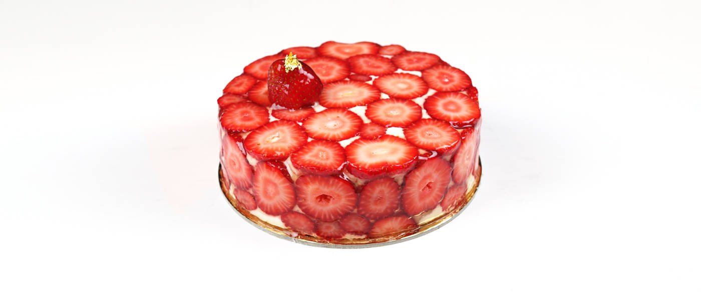 strawberry fromage entremet recipe chef iso